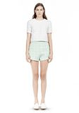 T by ALEXANDER WANG GRID JACQUARD BONDED NEOPRENE SHORT SLEEVE TOP Short sleeve t-shirt Adult 8_n_f