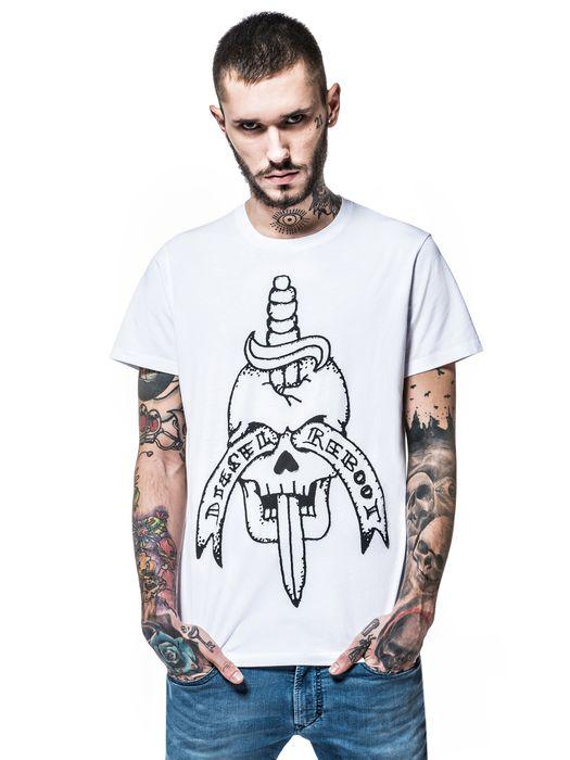 DIESEL REBOOT-T-SKULL-DAGGE T-Shirt E f