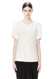 ALEXANDER WANG EXCLUSIVE GATHERED CASCADE TEE TOP Adult 8_n_e