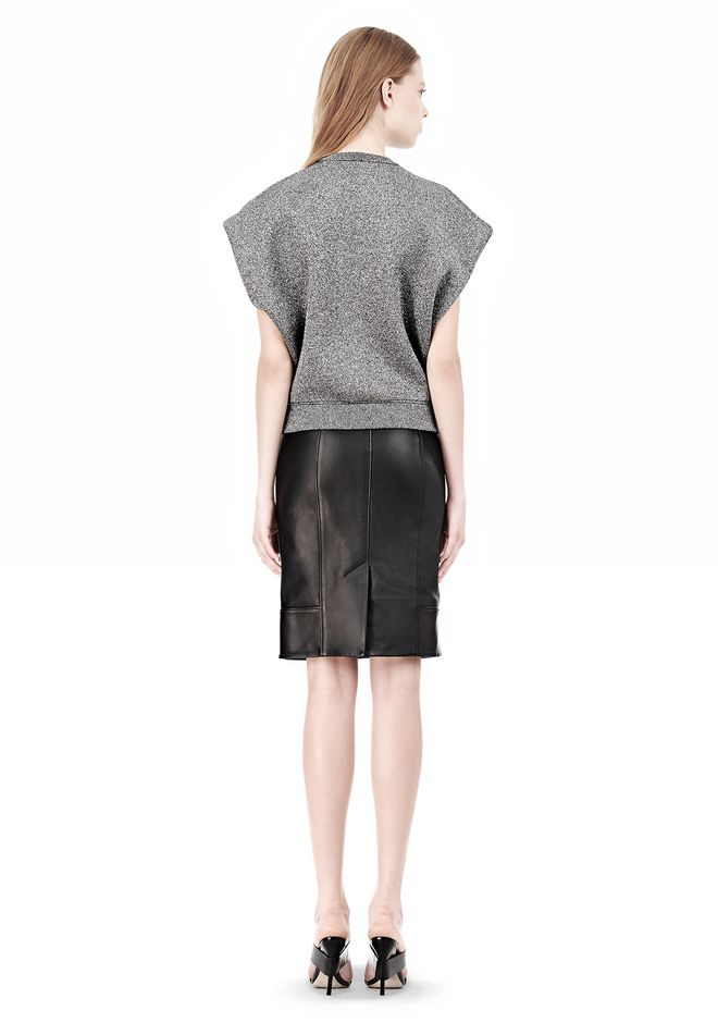 ALEXANDER WANG CROPPED LUREX MUSCLE PULLOVER Sleeveless jumper Adult 12_n_r