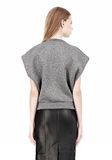 ALEXANDER WANG CROPPED LUREX MUSCLE PULLOVER Sleeveless jumper Adult 8_n_d