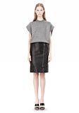 ALEXANDER WANG CROPPED LUREX MUSCLE PULLOVER Sleeveless jumper Adult 8_n_f