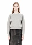 ALEXANDER WANG DOUBLE FACED CROP PULLOVER NEOPRENE Crewneck Adult 8_n_e