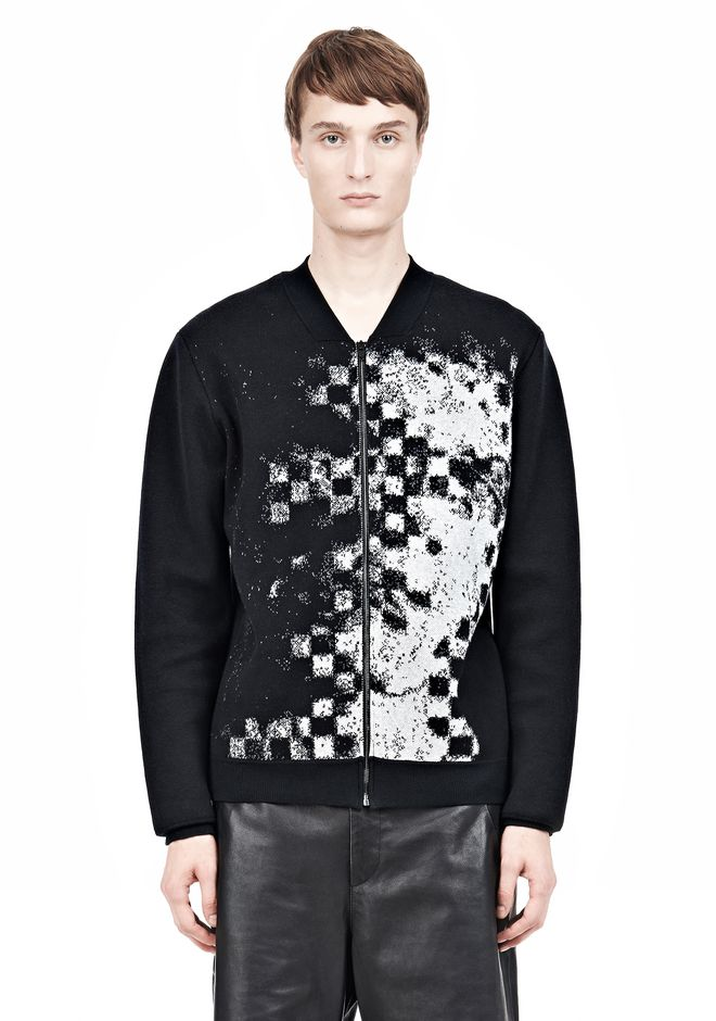 ALEXANDER WANG FINE GAUGE JACQUARD BOMBER JACKETS AND OUTERWEAR  Adult 12_n_e