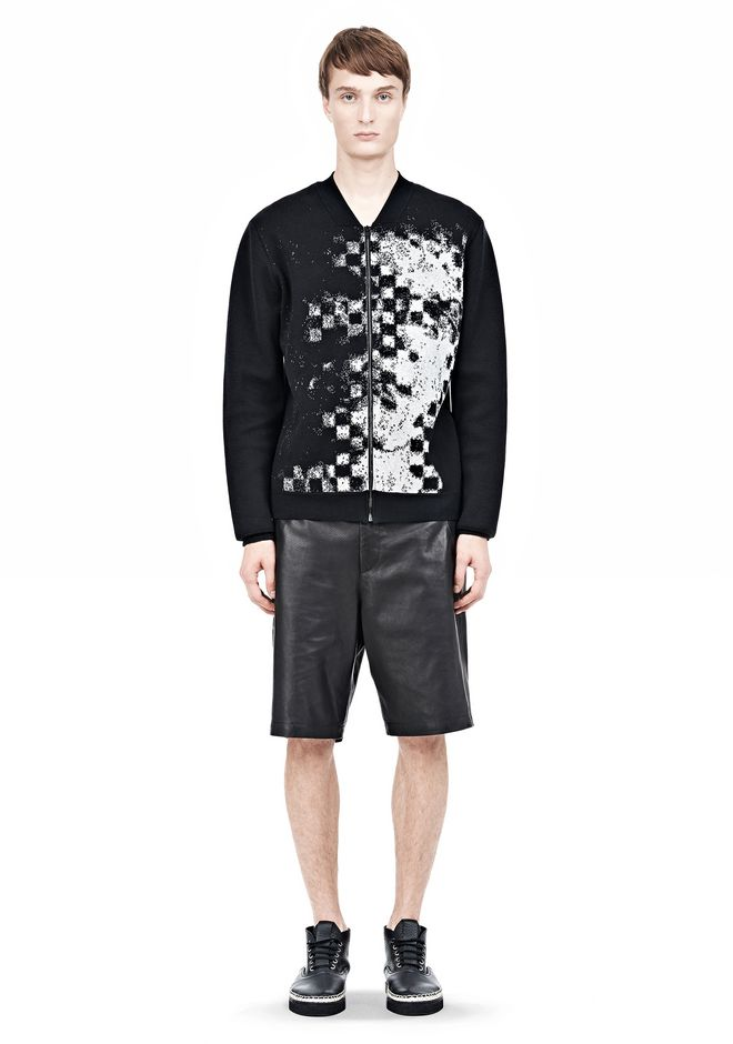 ALEXANDER WANG FINE GAUGE JACQUARD BOMBER JACKETS AND OUTERWEAR  Adult 12_n_f