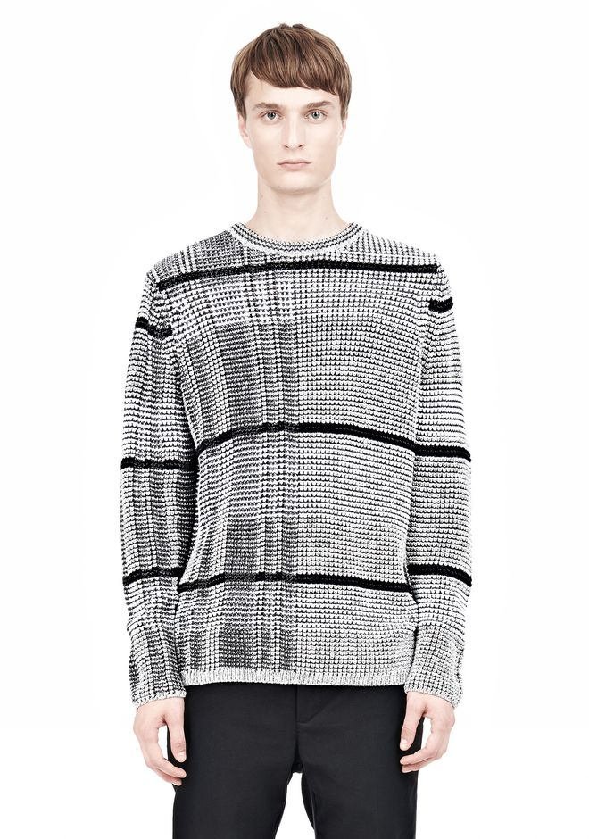 ALEXANDER WANG CHECKERED TUCK JACQUARD PULLOVER TOP Adult 12_n_e
