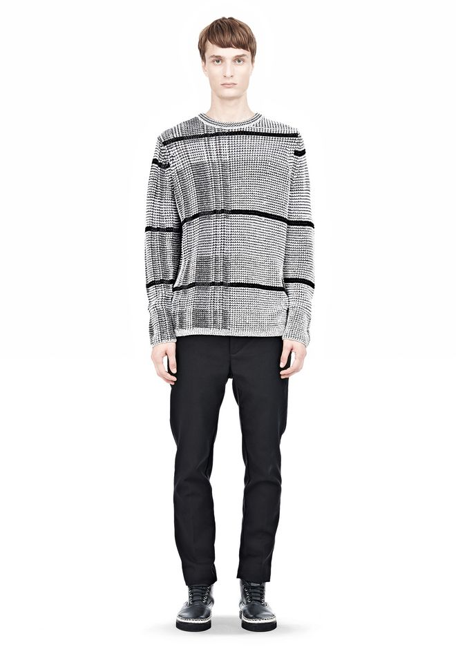 ALEXANDER WANG CHECKERED TUCK JACQUARD PULLOVER TOP Adult 12_n_f
