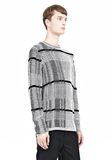 ALEXANDER WANG CHECKERED TUCK JACQUARD PULLOVER TOP Adult 8_n_a