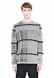 ALEXANDER WANG CHECKERED TUCK JACQUARD PULLOVER TOP Adult 8_n_e