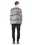 ALEXANDER WANG CHECKERED TUCK JACQUARD PULLOVER TOP Adult 8_n_r
