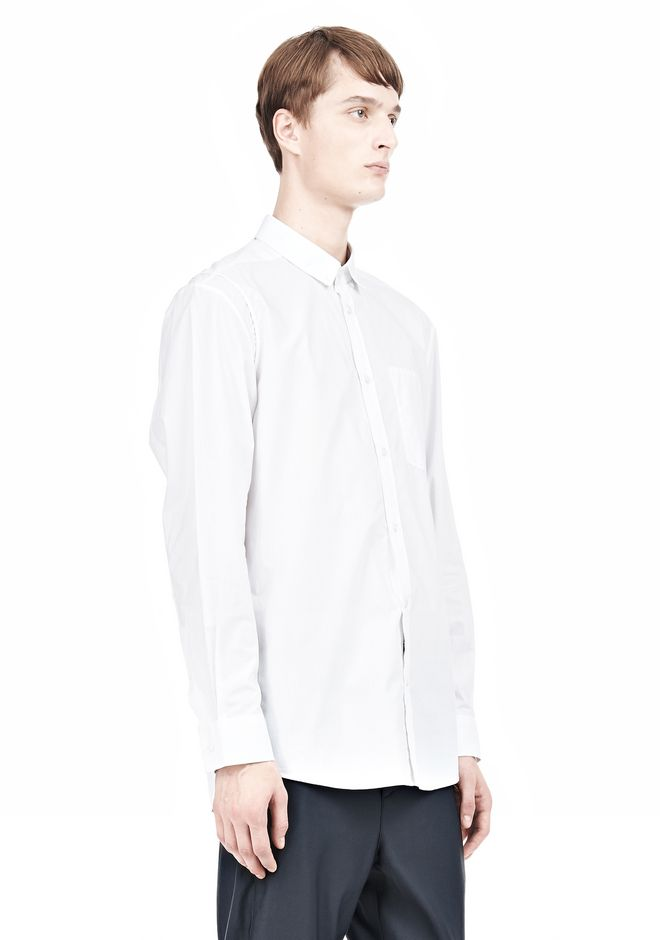 ALEXANDER WANG MULTI SEAM LONG SLEEVE BUTTON DOWN SHIRT Shirt/del Adult 12_n_a