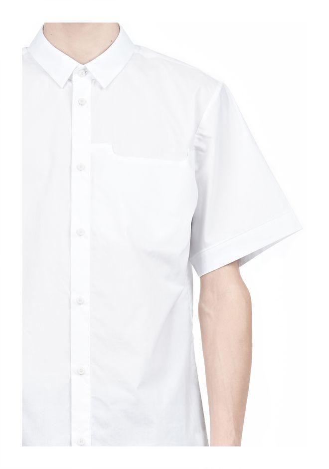 ALEXANDER WANG SHORT SLEEVE BUTTON DOWNSHIRT WITH INSET POCKET Short sleeve shirt Adult 12_n_a