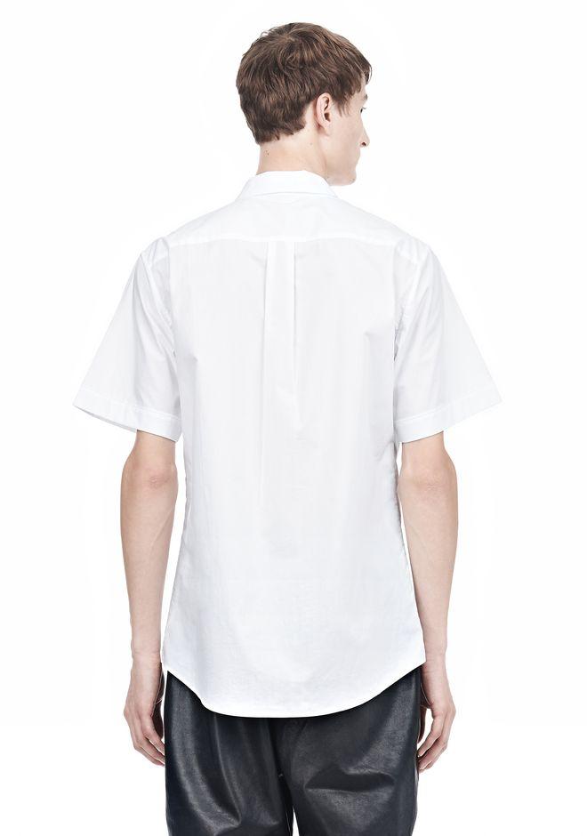ALEXANDER WANG SHORT SLEEVE BUTTON DOWNSHIRT WITH INSET POCKET Short sleeve shirt Adult 12_n_d