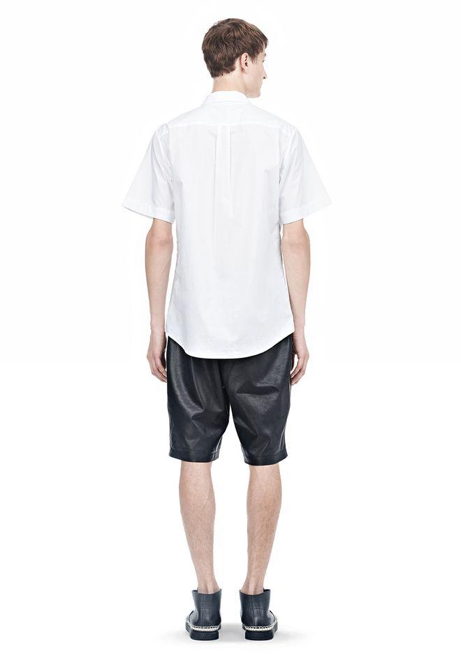 ALEXANDER WANG SHORT SLEEVE BUTTON DOWNSHIRT WITH INSET POCKET Short sleeve shirt Adult 12_n_r