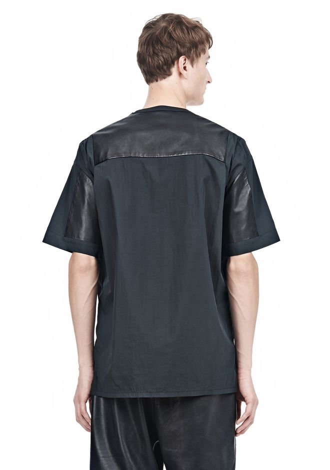 ALEXANDER WANG LEATHER PATCHWORK SHORT SLEEVED TEE Short sleeve t-shirt  12_n_d