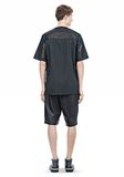 ALEXANDER WANG LEATHER PATCHWORK SHORT SLEEVED TEE Short sleeve t-shirt  8_n_r