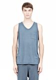 T by ALEXANDER WANG CLASSIC TANK WITH POCKET TEE Adult 8_n_e