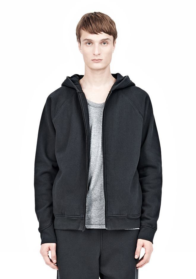 T by ALEXANDER WANG VINTAGE FLEECE ZIP UP HOODIE HOODIE Adult 12_n_a