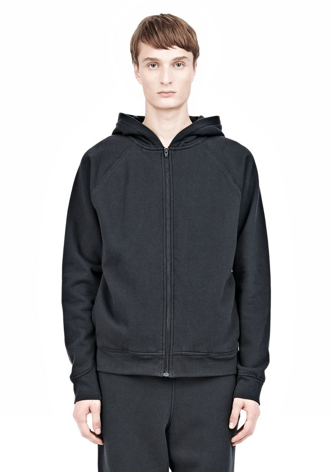T by ALEXANDER WANG VINTAGE FLEECE ZIP UP HOODIE HOODIE Adult 12_n_e