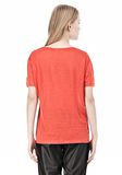 T by ALEXANDER WANG LINEN SILK CREWNECK SHORT SLEEVE TEE Short sleeve t-shirt Adult 8_n_d