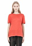 T by ALEXANDER WANG LINEN SILK CREWNECK SHORT SLEEVE TEE Short sleeve t-shirt Adult 8_n_e