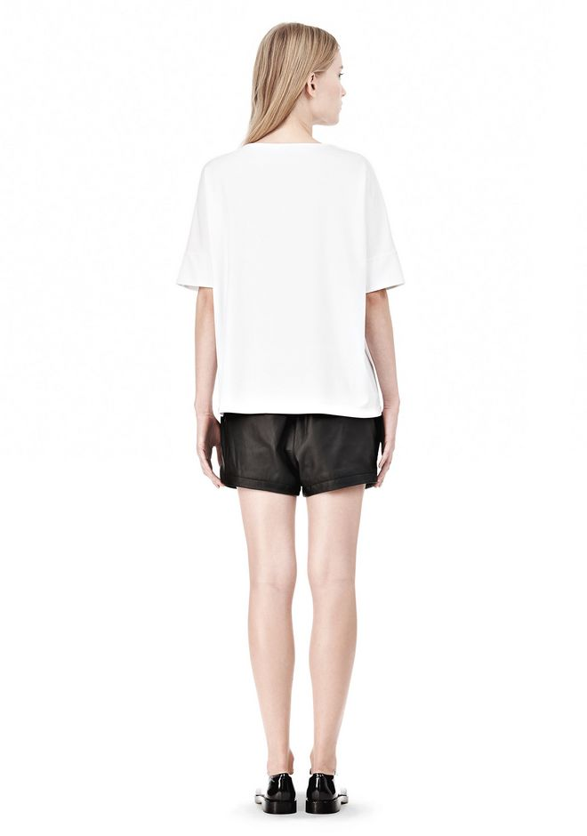 T by ALEXANDER WANG LUX PONTE DOLMAN CREWNECK SHORT SLEEVE TEE Short sleeve t-shirt Adult 12_n_r