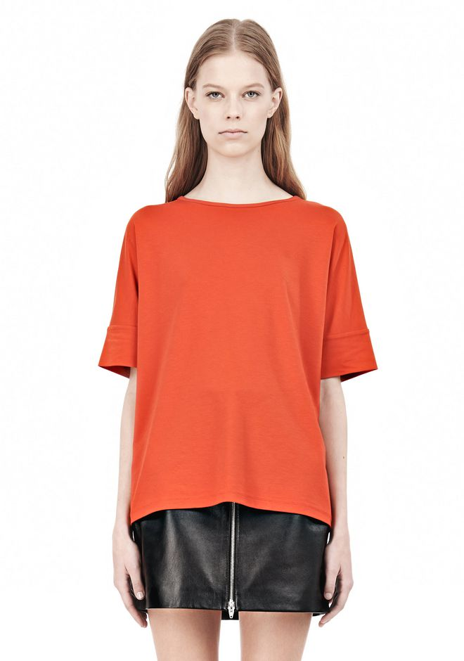 T by ALEXANDER WANG LUX PONTE DOLMAN CREWNECK SHORT SLEEVE TEE Short sleeve t-shirt Adult 12_n_e