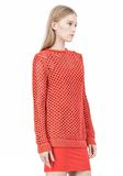 T by ALEXANDER WANG NYLON TAPE YARN OPEN KNIT CREWNECK PULLOVER Crewneck Adult 8_n_a