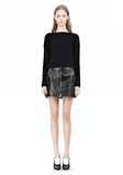T by ALEXANDER WANG COTTON RIB KNIT BOATNECK PULLOVER Crewneck Adult 8_n_f