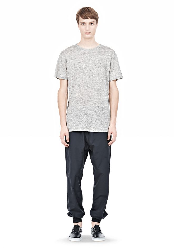 T by ALEXANDER WANG HEATHER LINEN SHORT SLEEVE TEE TOP Adult 12_n_f