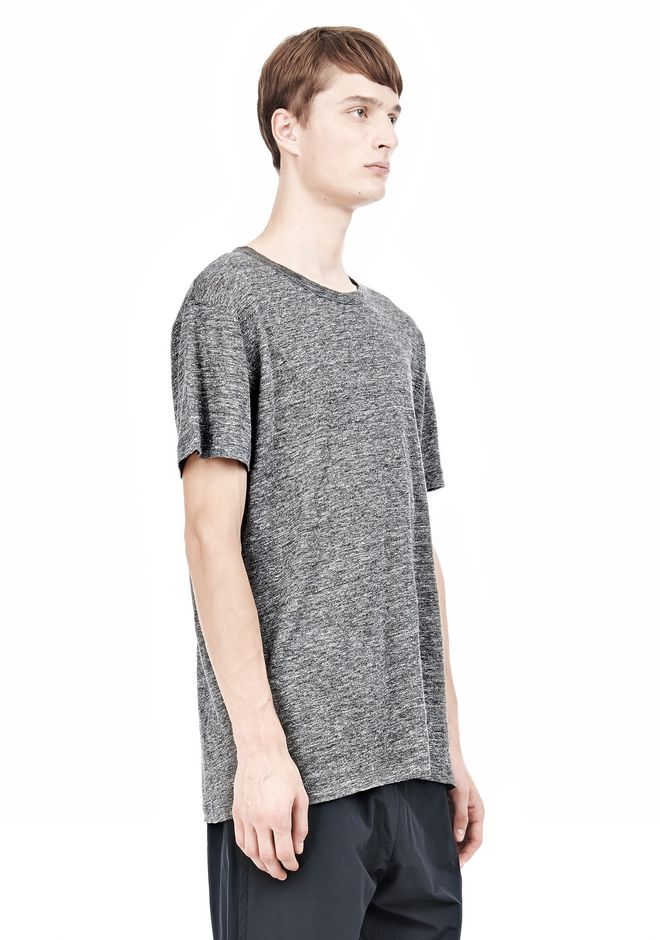 T by ALEXANDER WANG HEATHER LINEN SHORT SLEEVE TEE TOP Adult 12_n_a