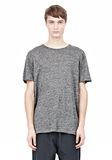 T by ALEXANDER WANG HEATHER LINEN SHORT SLEEVE TEE TOP Adult 8_n_e