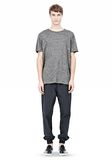 T by ALEXANDER WANG HEATHER LINEN SHORT SLEEVE TEE TOP Adult 8_n_f