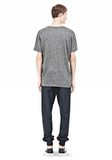 T by ALEXANDER WANG HEATHER LINEN SHORT SLEEVE TEE TOP Adult 8_n_r