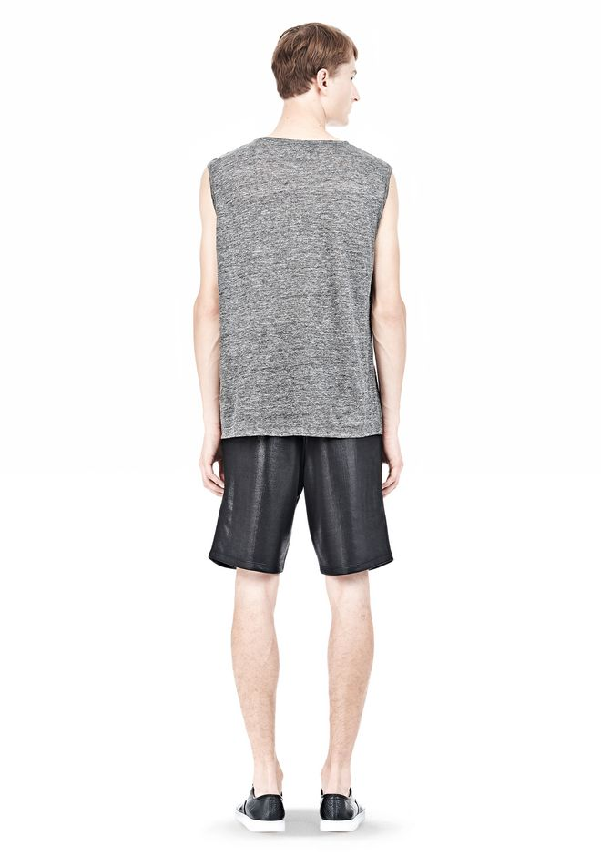T by ALEXANDER WANG HEATHER LINEN MUSCLE TANK TEE Adult 12_n_r