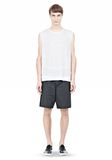 T by ALEXANDER WANG LINEN SILK MUSCLE TANK TEE Adult 8_n_f