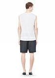 T by ALEXANDER WANG LINEN SILK MUSCLE TANK TEE Adult 8_n_r