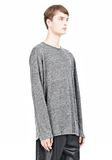 T by ALEXANDER WANG HEATHER LINEN LONG SLEEVETEE Crewneck Adult 8_n_a