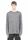 T by ALEXANDER WANG HEATHER LINEN LONG SLEEVETEE Crewneck Adult 8_n_e