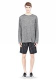 T by ALEXANDER WANG HEATHER LINEN LONG SLEEVETEE Crewneck Adult 8_n_f