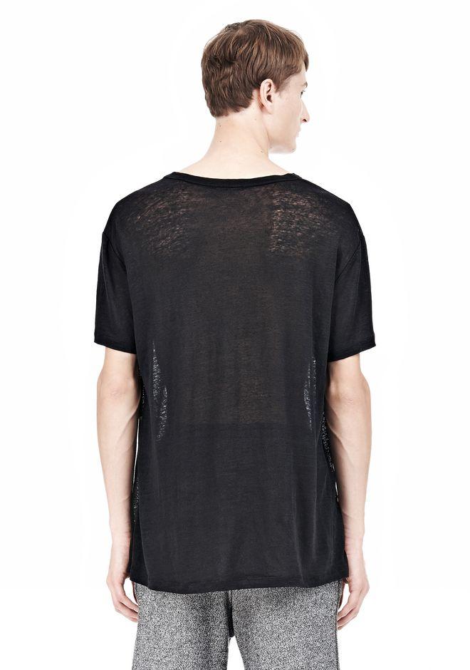 T by ALEXANDER WANG LINEN SILK SHORT SLEEVE TEE Short sleeve t-shirt Adult 12_n_d