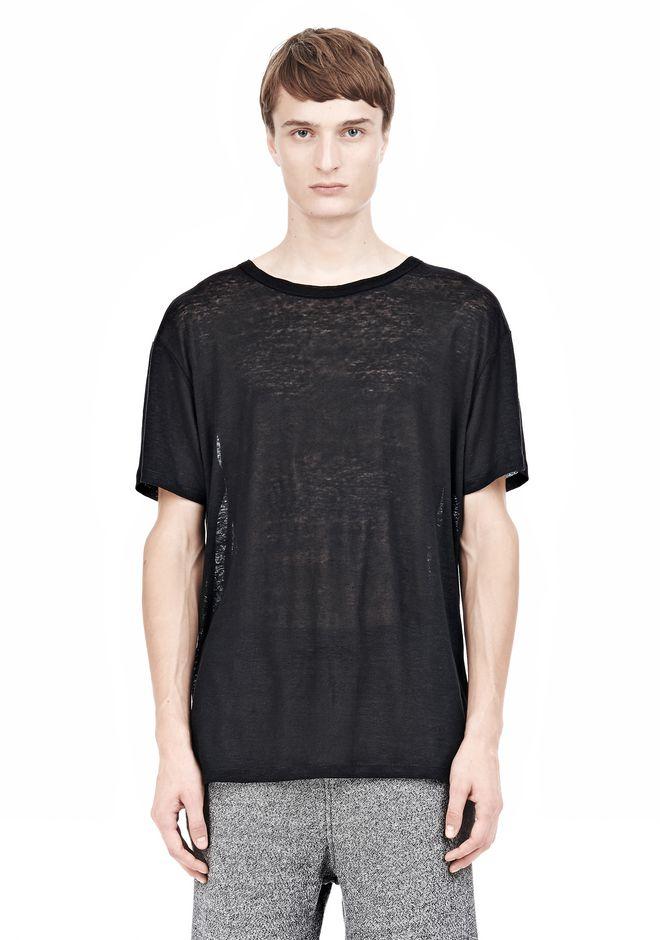 T by ALEXANDER WANG LINEN SILK SHORT SLEEVE TEE Short sleeve t-shirt Adult 12_n_e