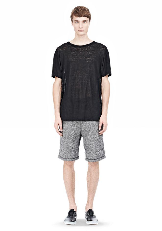 T by ALEXANDER WANG LINEN SILK SHORT SLEEVE TEE Short sleeve t-shirt Adult 12_n_f