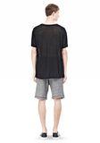 T by ALEXANDER WANG LINEN SILK SHORT SLEEVE TEE Short sleeve t-shirt Adult 8_n_r