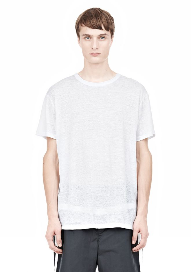 T by ALEXANDER WANG LINEN SILK SHORT SLEEVE TEE Short sleeve t-shirt Adult 12_n_e