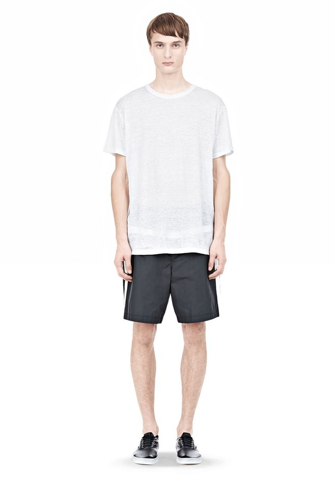 T by ALEXANDER WANG LINEN SILK SHORT SLEEVE TEE Short sleeve t-shirt Adult 12_n_f