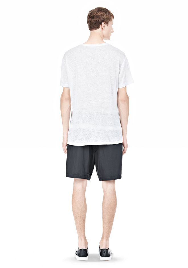 T by ALEXANDER WANG LINEN SILK SHORT SLEEVE TEE Short sleeve t-shirt Adult 12_n_r