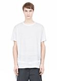 T by ALEXANDER WANG LINEN SILK SHORT SLEEVE TEE Short sleeve t-shirt Adult 8_n_e