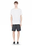 T by ALEXANDER WANG LINEN SILK SHORT SLEEVE TEE Short sleeve t-shirt Adult 8_n_f