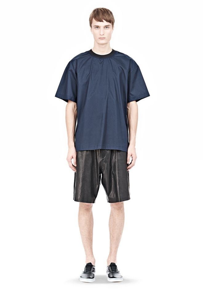 T by ALEXANDER WANG COTTON POPLIN SHORT SLEEVE TEE Short sleeve t-shirt Adult 12_n_f